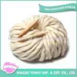 Белый большой Super громоздких шерстяной пряжи Пуловер из моделей