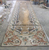 Medallón de nido de abeja del mosaico del mármol del jet de agua para el suelo del pasillo