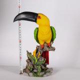 Papegaai van de Werf van de Decoratie van de Tuin van de hars de Dierlijke Zuivel voor Verkoop