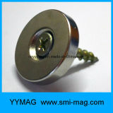 Imán de anillo fuerte del avellanador del neodimio con el orificio del tornillo