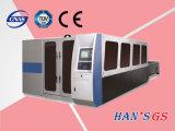 Machine de découpage de laser de fibre du GS d'Affaire-Han réel