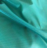 Dwr 100% poliéster Ripstop tela de tafetán con revestimiento de PU para las chaquetas