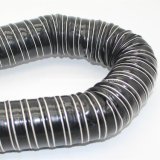 Boyau flexible renforcé par fil d'air de tissu de fibres de verre de silicones