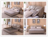 Кровать самомоднейшего типа евро мебели дома спальни мягкая двойная кожаный