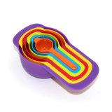 Lepel van de Kleur van de Rang van het voedsel DIY de Plastic Metende met de Theelepeltjes die van 6 Stukken Hulpmiddelen bakken