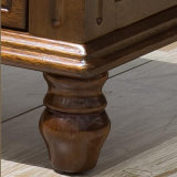 Suporte de cama de madeira sólida estilo americano para móveis de escritório doméstico As830