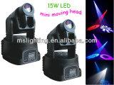 Helles 15W LED bewegliches Hauptwäsche-Licht des Stadiums-mit Radioapparat