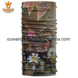 印刷される魚が付いているOuwangのカスタム多機能のバンダナ
