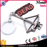 Atacado Supermark Brand Name Logo Metal Coin Holder Keychains