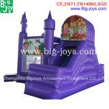 Castelo inflável com combinação de slides, jogos infláveis de alta qualidade