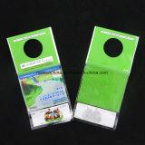 De duidelijke Hoofd Plastic Verpakkende Zak van de Kaart met het Hangen van Gat