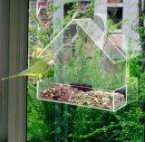 Alimentador de acrílico del pájaro de la casa caliente de la venta con las tazas de la succión