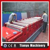 Double roulis en acier trapézoïdal de feuilles de panneau de toit de paquet formant la machine C8+C21