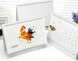 新しいデザイン創造的な2018のカレンダの卸売、カスタム印刷の壁の事務用品のデスクトップのペーパー卓上カレンダー