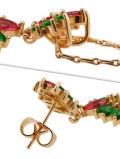 Jóias de gênero feminino e jóias de gemas estilo vintage para festa