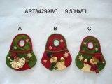 Panier de décoration de Noël Santa Snowman, 3sst
