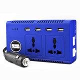 Conversor de energia 200W DC 12V para AC 220V Inversor de carro com portas de carregamento USB de 4 portas Adaptador de saída de tomada CA