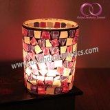 O suporte de vela de vidro do mosaico do frasco do mosaico para a vela Home da decoração range por atacado