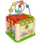 Caixa de cordão redonda de Natal quente brinquedo para crianças e crianças