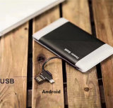 Banque d'alimentation chargeur portable 6000mAh avec câble micro USB