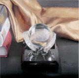 Globo de bola de cristal globo na mão troféu de bola de cristal