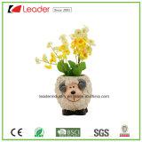 De mooie Kleine die Bloempotten van het Beeldje van de Hond voor de Ornamenten van het Huis en van de Tuin, van Polyresin worden gemaakt