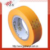 Zoll gedrucktes selbstbewegendes buntes selbsthaftendes Papierkreppband