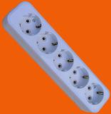 Kein Schalter. 1.5m, 3.0m, 5.0m H05VV-F 3X1.0 Anschlüsse des Kabel-5-Way (E8005E)