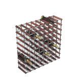 42 Garrafas Pré-Assosado Metal Madeira Armazenamento Vinho Display Racks