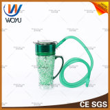 Nuevo tipo de taza portable del agua con el tubo de agua del LED