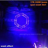 350W 17r bewegliches Hauptlicht der Träger-Punkt-Wäsche-3in1