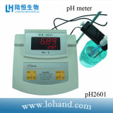 ベンチの上またはデスクトップのPH計かテスターpHテスト(pH2601)