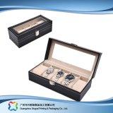 시계 보석 선물 (xc dB 015)를 위한 호화스러운 나무로 되는 서류상 전시 수송용 포장 상자