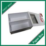 Placa de papel de luxo caixa de sapato com fita