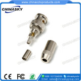 Cable coaxial de 4 mm adaptador BNC macho de crimpado de CCTV (CT5058)