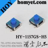 Interruptor micro tactile de alta qualidade de 4 pinos com botão colorido (HY-1157G)