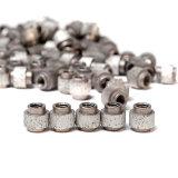 11.5mm/11mm 및 10.5mm 구체 적이고 및 강화된 콘크리트의 토목 공학 절단을%s 강화되는 봄을%s 가진 직경에 의하여 고무로 처리되는 다이아몬드 철사