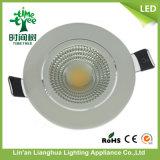 7W Round LED SABUGO luz para baixo