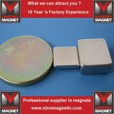 Большой сильный магнит 50mmx50mmx10mm блока неодимия