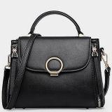 새 모델 동향 실제적인 가죽 여자 핸드백 어깨에 매는 가방은 주문 로고 Emg5121를 받아들인다