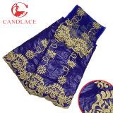 La tela africana más nueva de Candlace 2017 Bazin con la blusa que corresponde con