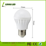 Luz de bulbo plástica elevada do diodo emissor de luz do lúmen E27 5W