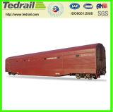 Vagões cobertos da Pesado-Carga Railway com sortes diferentes