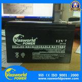 перезаряжаемые загерметизированная свинцовокислотная солнечная батарея 12V7ah для системы UPS