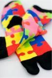 Конструкция головоломки цвета носка пальца ноги популярная для носка Tabi малышей