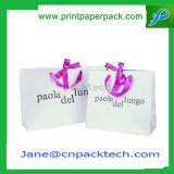 Anunció el bolso de compras portable de los bolsos del papel del portador del bolso del regalo