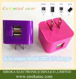 熱い私達を5V 2Aの折るプラグ二重USBの無線移動式充電器iPhoneのSamsung表のパソコンのために販売する