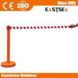 Aço Inoxidável ou Pedestre Plástico Colorido Retrátil Queue Barreira de Corda