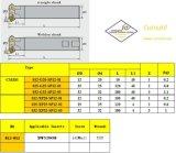 Inserção Cmz01-025-G25-Sp12-02 de Cutoutil para Hardmetal de aço que combina o cortador de trituração padrão das ferramentas