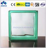 Bloco de vidro da cor 190X190X80mm de turquesa de Jinghua da alta qualidade/tijolo nebulosos